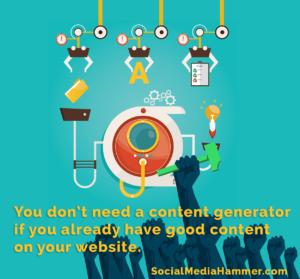 social media hammer app content generator tool website